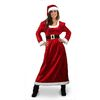 X-Large Maroon Polyester Mrs. Claus Suit