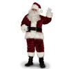 XXL Burgundy Polyester Santa Claus Suit