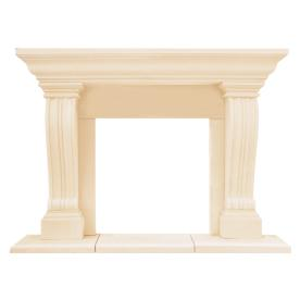 HISTORIC MANTELS LIMITED 52.5-in x 15-in Sealed Chateau Series Jordana Cast Stone Mantel Surrounds