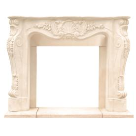 HISTORIC MANTELS LIMITED 48-in x 13-in Sealed Chateau Series Louis Xiii Cast Stone Mantel Surrounds