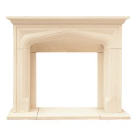 HISTORIC MANTELS LIMITED 50-in x 15-in Sealed Chateau Series Pisa Cast Stone Mantel Surrounds