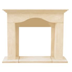HISTORIC MANTELS LIMITED 52.5-in x 15-in Sealed Chateau Series Marissa Cast Stone Mantel Surrounds