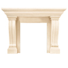 HISTORIC MANTELS LIMITED 47-in x 9-in Sealed Symphony Series Jordana Cast Stone Mantel Surrounds