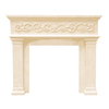 HISTORIC MANTELS LIMITED 47-in x 6-in Sealed Designer Series Michael Angelo Cast Stone Mantel Surrounds