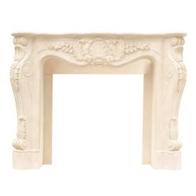 HISTORIC MANTELS LIMITED Designer 53-in W x 47-in H Distressed Ivory Traditional Fireplace Surround