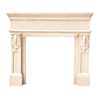 HISTORIC MANTELS LIMITED 47-in x 6-in Sealed Designer Series Paris Cast Stone Mantel Surrounds
