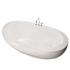 MAAX Reverie White Acrylic Oval Pedestal Bathtub with Center Drain (Common: 36-in x 66-in; Actual: 24-in x 36.5-in x 66.5-in)