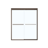 MAAX Aura 6 Tub Door 59-in W x 57-in H Oil-Rubbed Bronze Frameless Bathtub Door