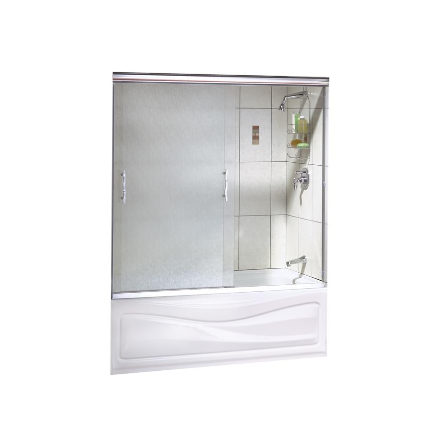 Shop maax vibe 2 panel frameless sliding tub shower door for Lowes sliding glass doors