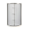 MAAX Intuition Neo-Round Brushed Nickel Acrylic Wall Acrylic Floor Round 4-Piece Corner Shower Kit (Actual: 73-in x 32.125-in x 73-in)