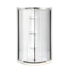 MAAX Intuition Neo-Round Chrome Acrylic Wall Acrylic Floor Round 4-Piece Corner Shower Kit (Actual: 73-in x 32.125-in x 73-in)