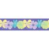 allen + roth 5-in Purple Self-Adhesive Wallpaper Border