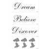 allen + roth Dream Believe Discover Snap Wall Art