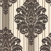 allen + roth Brown Strippable Non-Woven Paper Prepasted Wallpaper