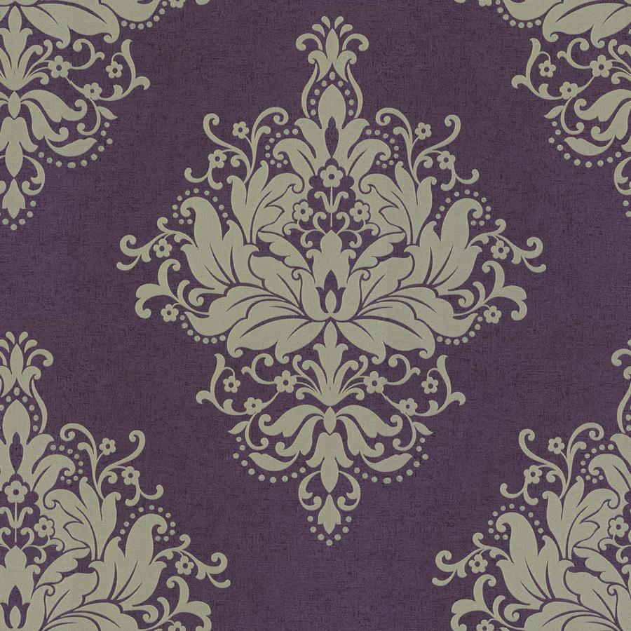 Shop Allen + Roth Purple Strippable Non-Woven Prepasted