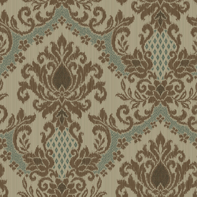allen + roth Turquoise Strippable Non-Woven Paper Prepasted Wallpaper