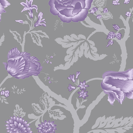 Shop allen roth grey purple silver strippable non woven for Purple and silver wallpaper