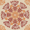 allen + roth Red/Orange Strippable Non-Woven Paper Prepasted Classic Wallpaper