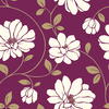 allen + roth Purple and Pewter Strippable Non-Woven Paper Prepasted Classic Wallpaper