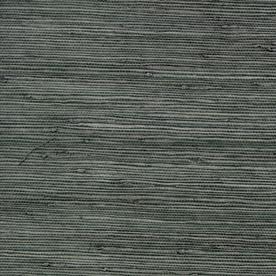 Shop Allen Roth Dark Grey Grasscloth Unpasted Textured