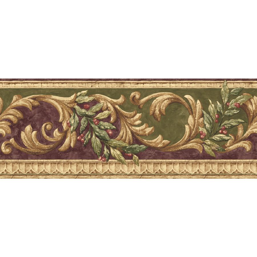 shop sunworthy 8 scroll prepasted wallpaper border at
