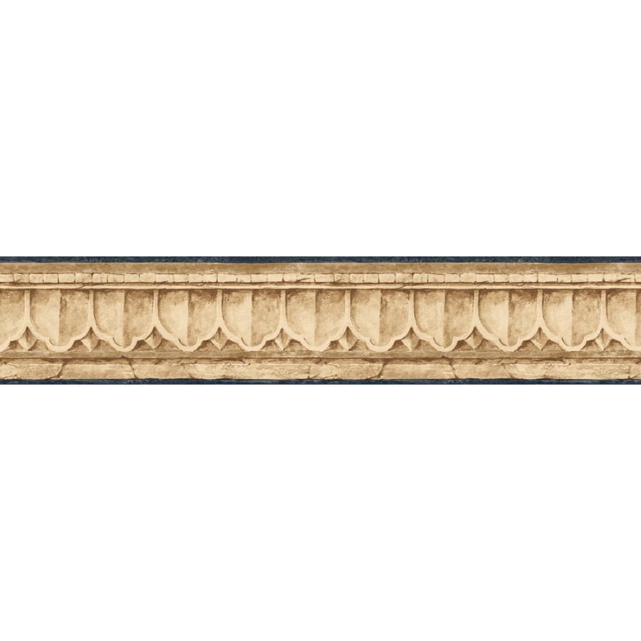 shop sunworthy 4 crown molding prepasted wallpaper border