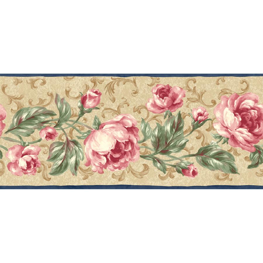 shop sunworthy 9 floral scroll prepasted wallpaper border