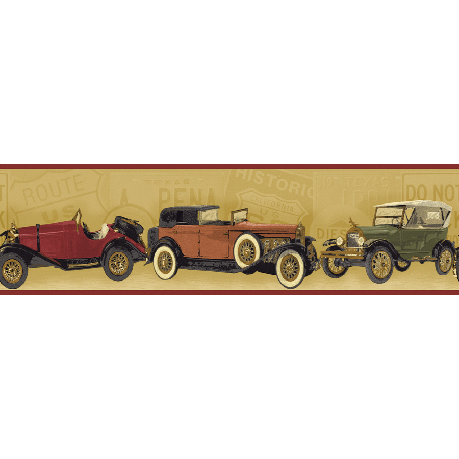 ... out zoom in sunworthy 6 7 8 antique cars prepasted wallpaper border