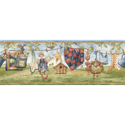 european wallpaper. Sunworthy Clothesline Wallpaper Border$18$18