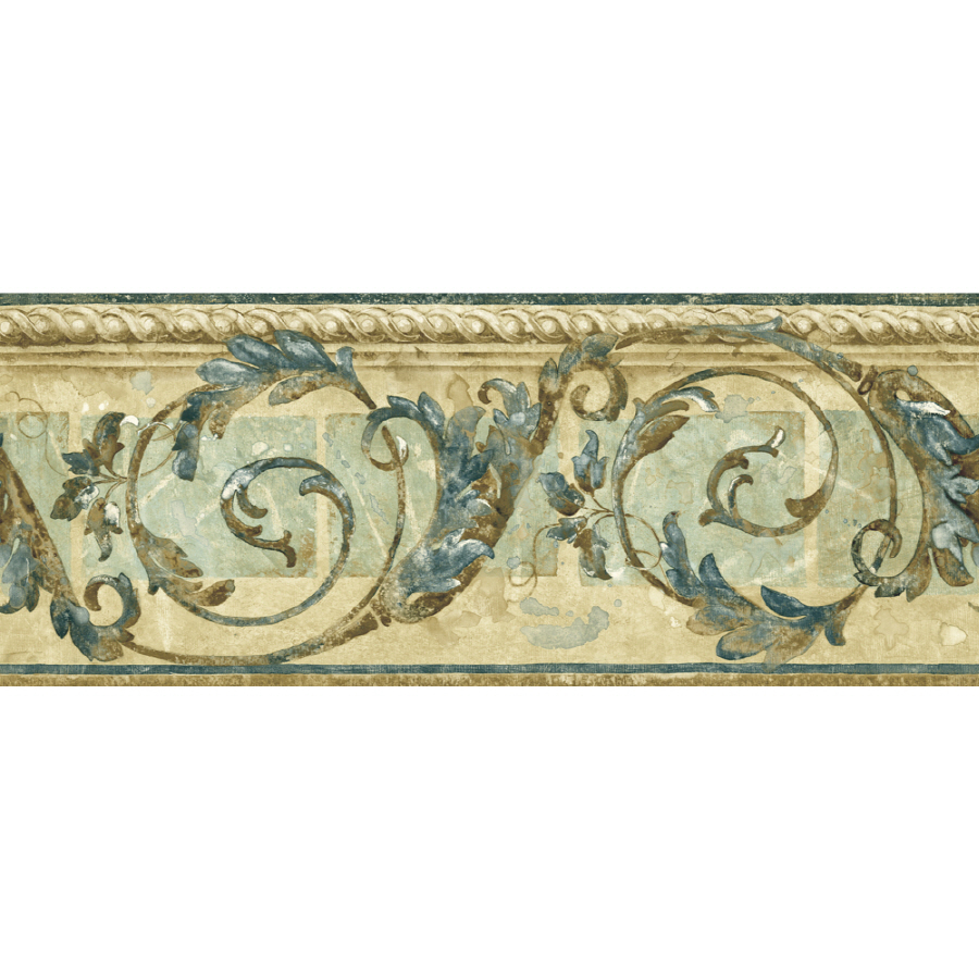... zoom in sunworthy 8 1 4 traditional scroll prepasted wallpaper border