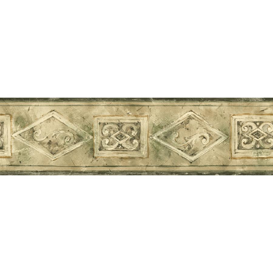 shop sanitas 5 1 8 emblem prepasted wallpaper border at