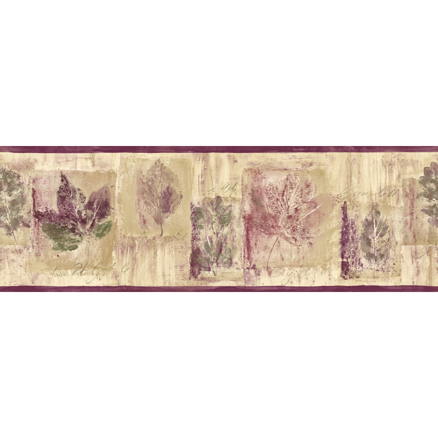 shop sanitas 6 7 8 leaf script prepasted wallpaper border