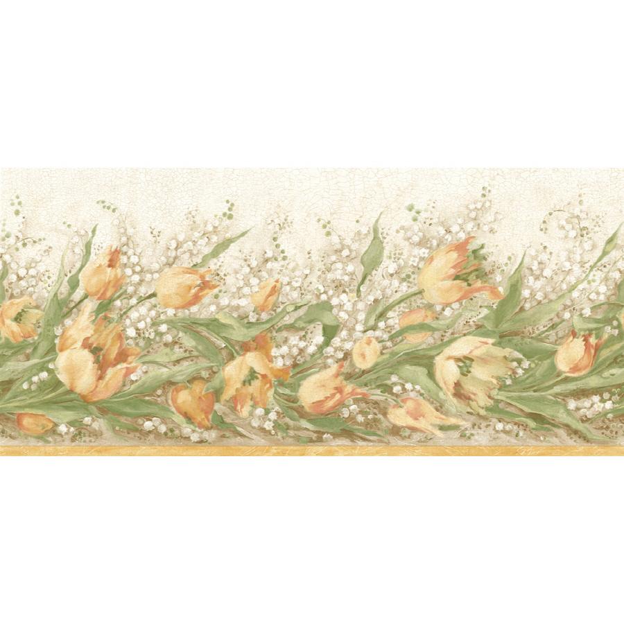 shop sanitas 9 3 4 floral trail prepasted wallpaper