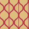 Shand Kydd Red Strippable Non-Woven Paper Prepasted Wallpaper