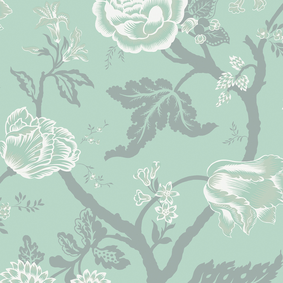 Shop shand kydd turquoise strippable prepasted classic for Prepasted wallpaper