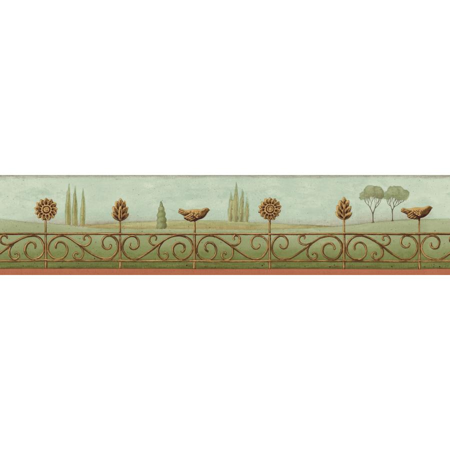shop imperial 4 landscape prepasted wallpaper border at