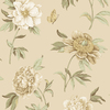 Waverly Brown Strippable Non-Woven Paper Unpasted Classic Wallpaper