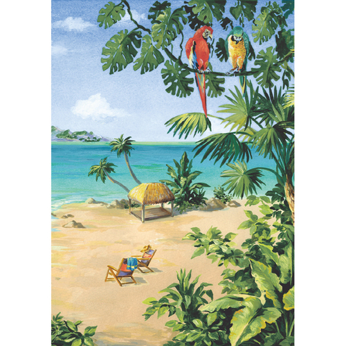 Zackis wallpaper beach scene for Beach scene mural wallpaper