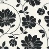 allen + roth Black Strippable Non-Woven Paper Prepasted Wallpaper