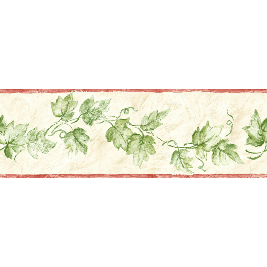 Shop sunworthy 6 ivy watercolor prepasted wallpaper for Wallpaper and borders