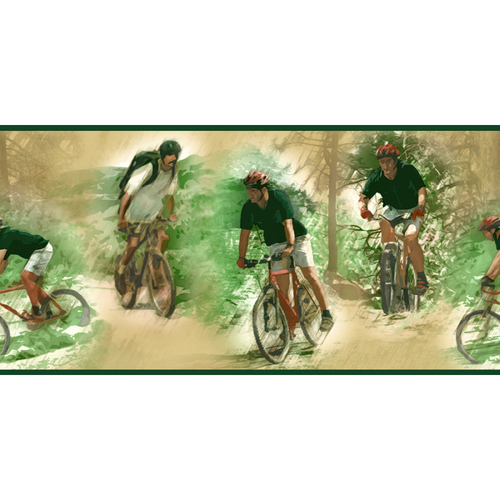 biking wallpaper. Sanitas Architectural Wallpaper Border$25$25