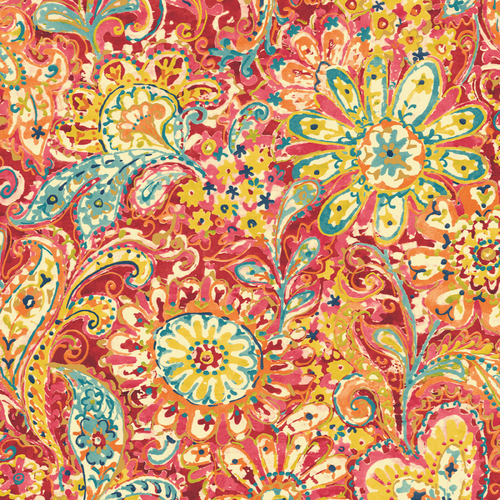 Zoomed: Sanitas Paisley &amp; Petals Wallpaper