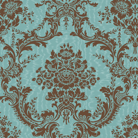 York Wallcoverings Blue Strippable Prepasted Classic Wallpaper ...