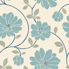 allen + roth Blue Strippable Non-Woven Paper Prepasted Wallpaper