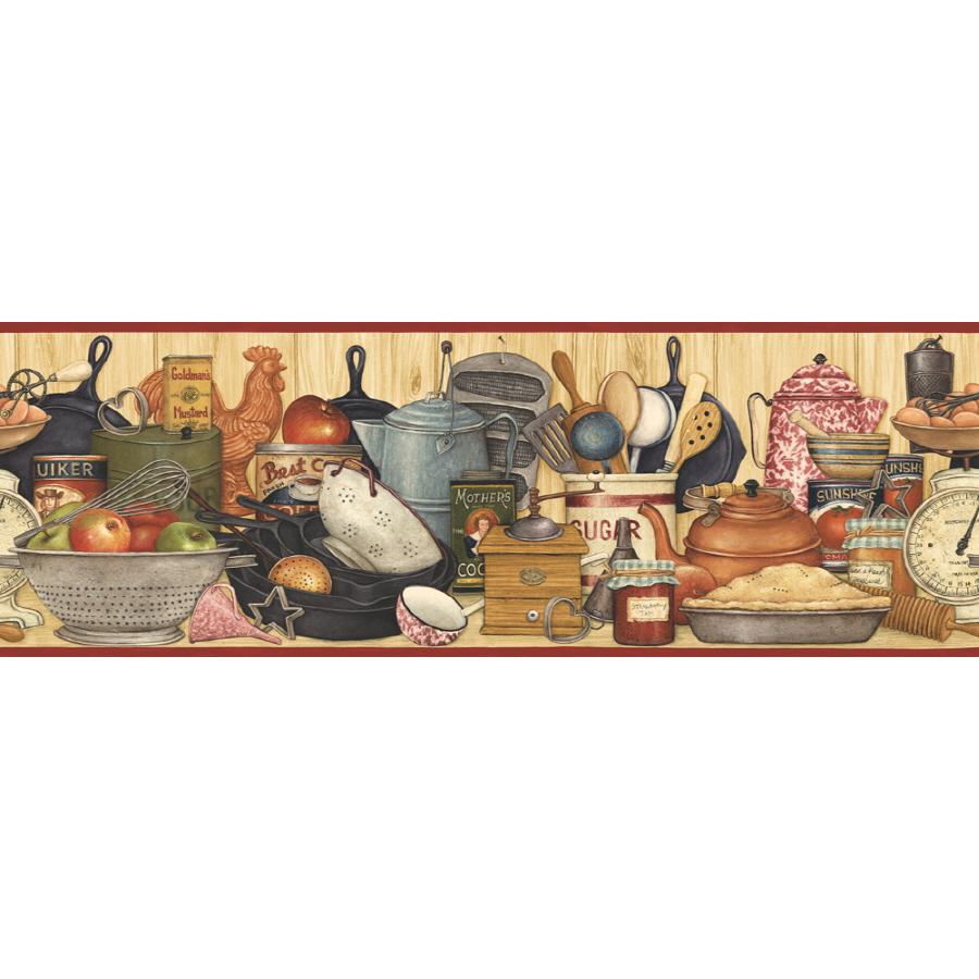 IMPERIAL 9 1 4  Kitchen Shelf Prepasted Wallpaper Border at Lowes com