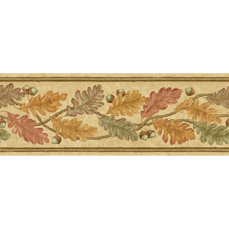 ... zoom out zoom in imperial 6 7 8 oak leaves prepasted wallpaper border