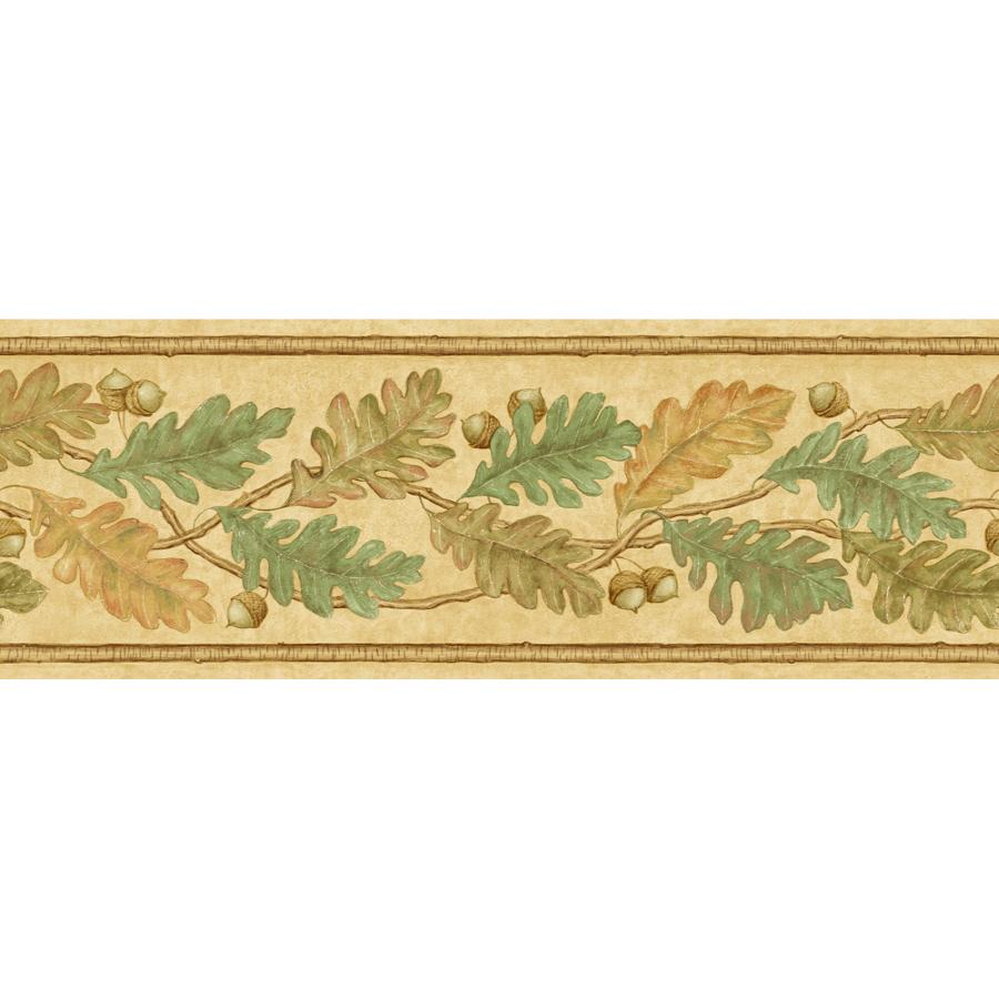 shop imperial 6 7 8 oak leaves prepasted wallpaper border