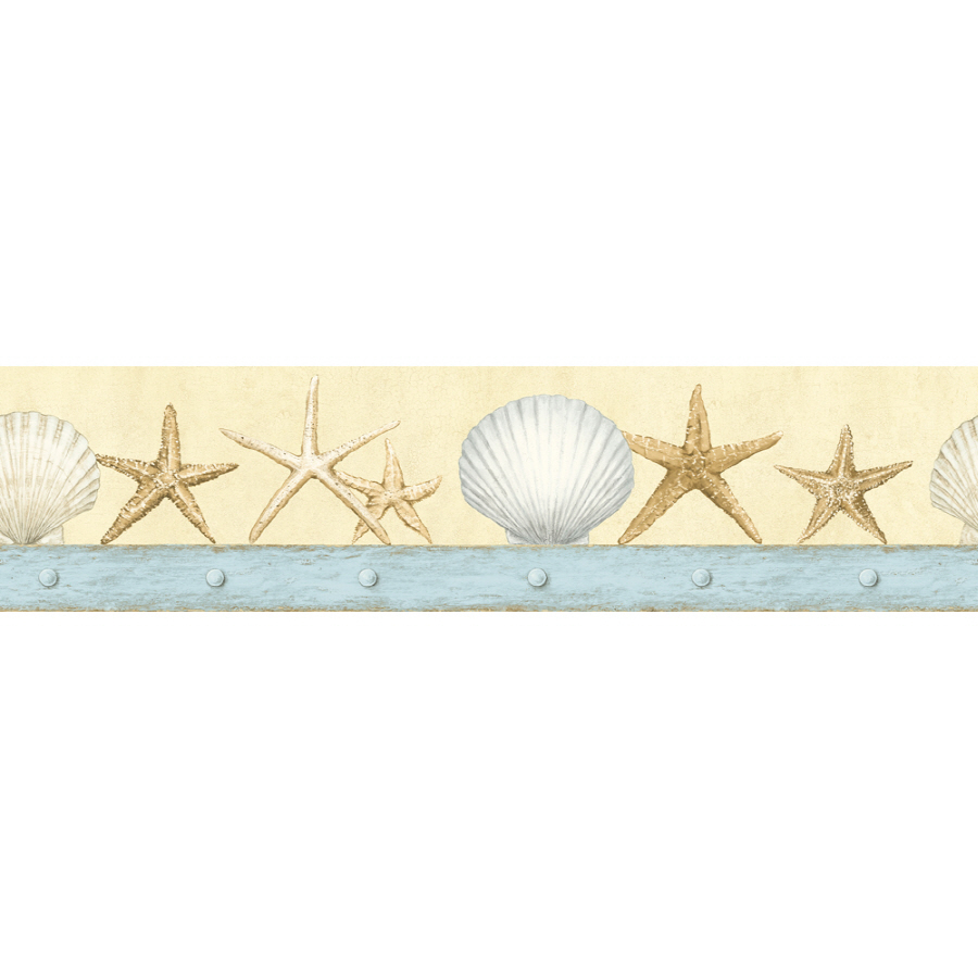 shop imperial 4 3 4 seashell prepasted wallpaper border at. Black Bedroom Furniture Sets. Home Design Ideas