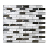 Smart Tiles 6-Pack White Linear Mosaic Composite Vinyl Wall Tile (Common: 10-in x 10-in; Actual: 9.1-in x 10.2-in)