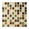 Smart Tiles 6-Pack Beige Uniform Squares Mosaic Composite Vinyl Wall Tile (Common: 10-in x 10-in; Actual: 9.85-in x 9.85-in)